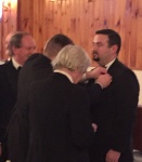 Josh pinned as incoming WM by outgoing WM, Brian McNaight, PM