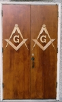 Old Lodge doors built by Bro. Will Hubbard