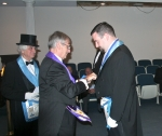 Josh Nay receiving Daniel Carter Beard Masonic Scouter Award