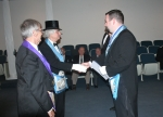 Josh receiving DCB Masonic Scouter Award