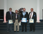 Four recipients of the Daniel Carter Beard Masonic Scouter Award