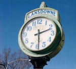 Closeup of the clock face