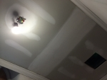 Ceiling, light, and fan replaced in upstairs restroom